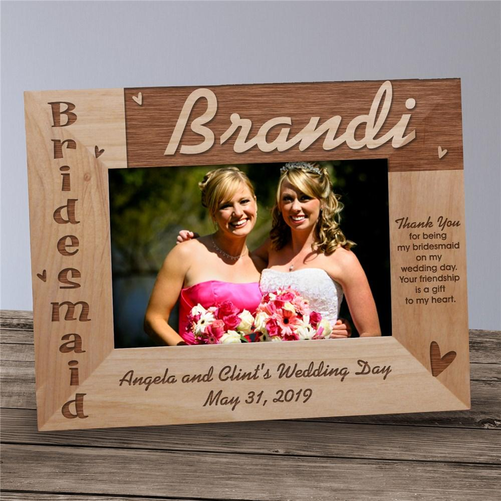 Personalized Bridesmaid Wood Picture Photo Frame