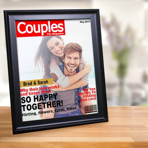 Personalized Couple's Magazine Cover