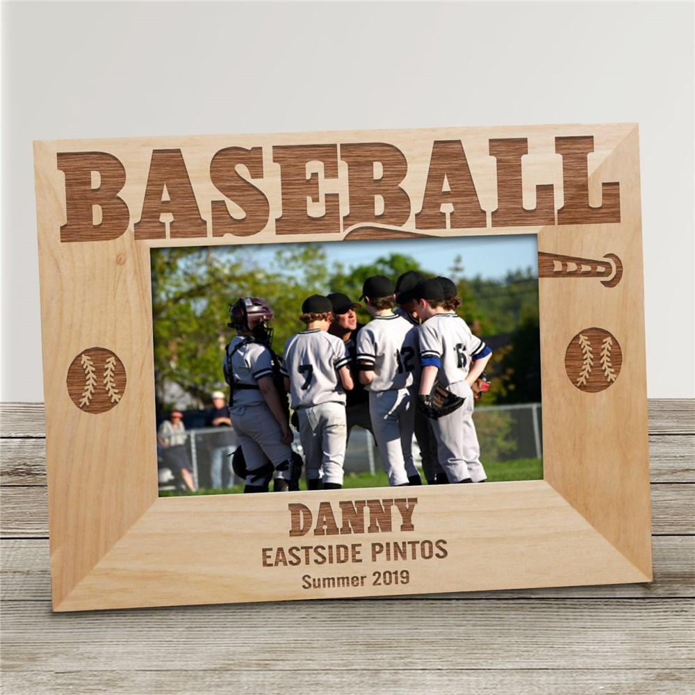 Personalized Baseball Wood Picture Frame