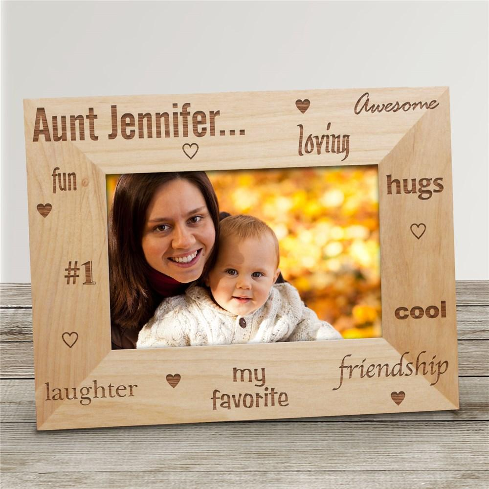 Personalized My Favorite Aunt Wood Picture Frame