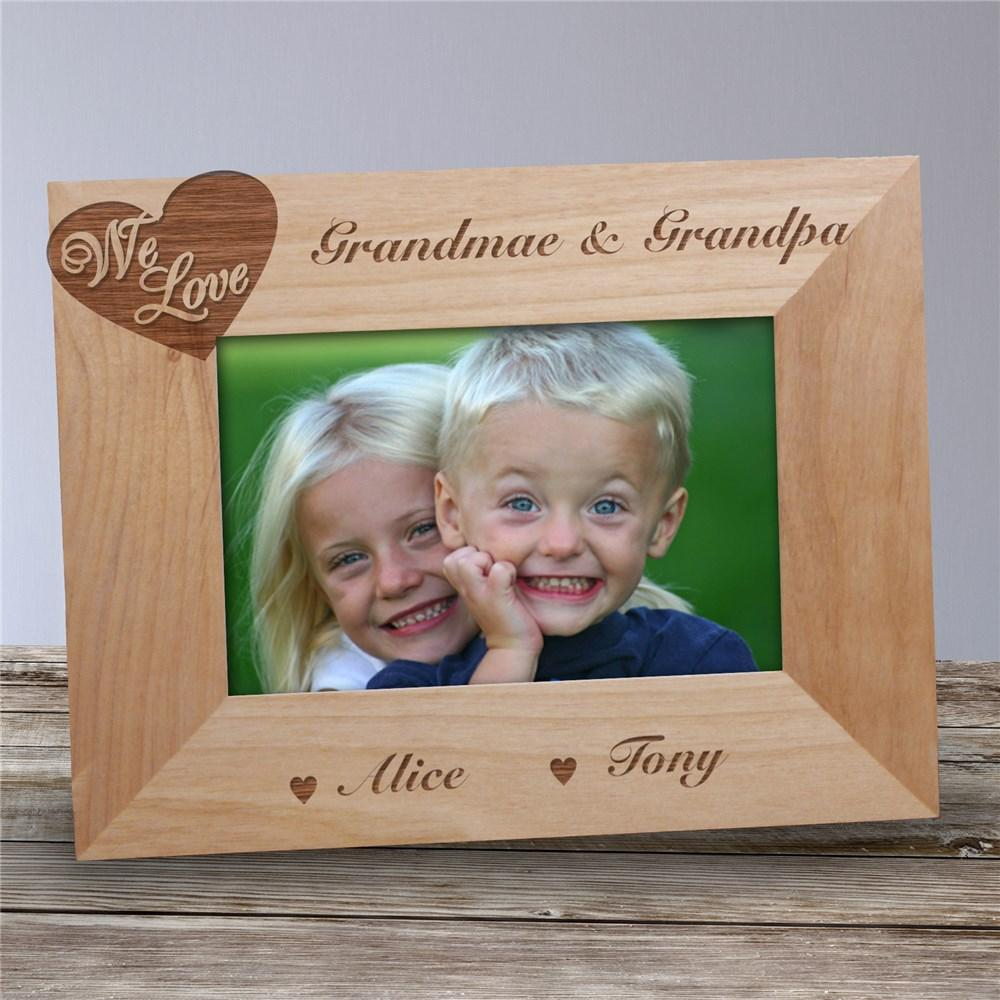 Personalized Engraved We Love...Wood Picture Frame