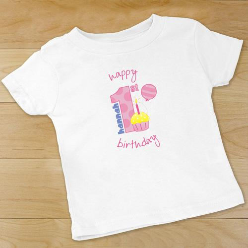 Personalized Baby Girl's 1st Birthday Infant Apparel