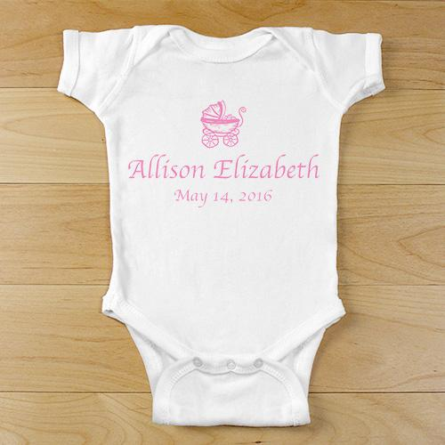 Personalized Baby Carriage Baby One Piece