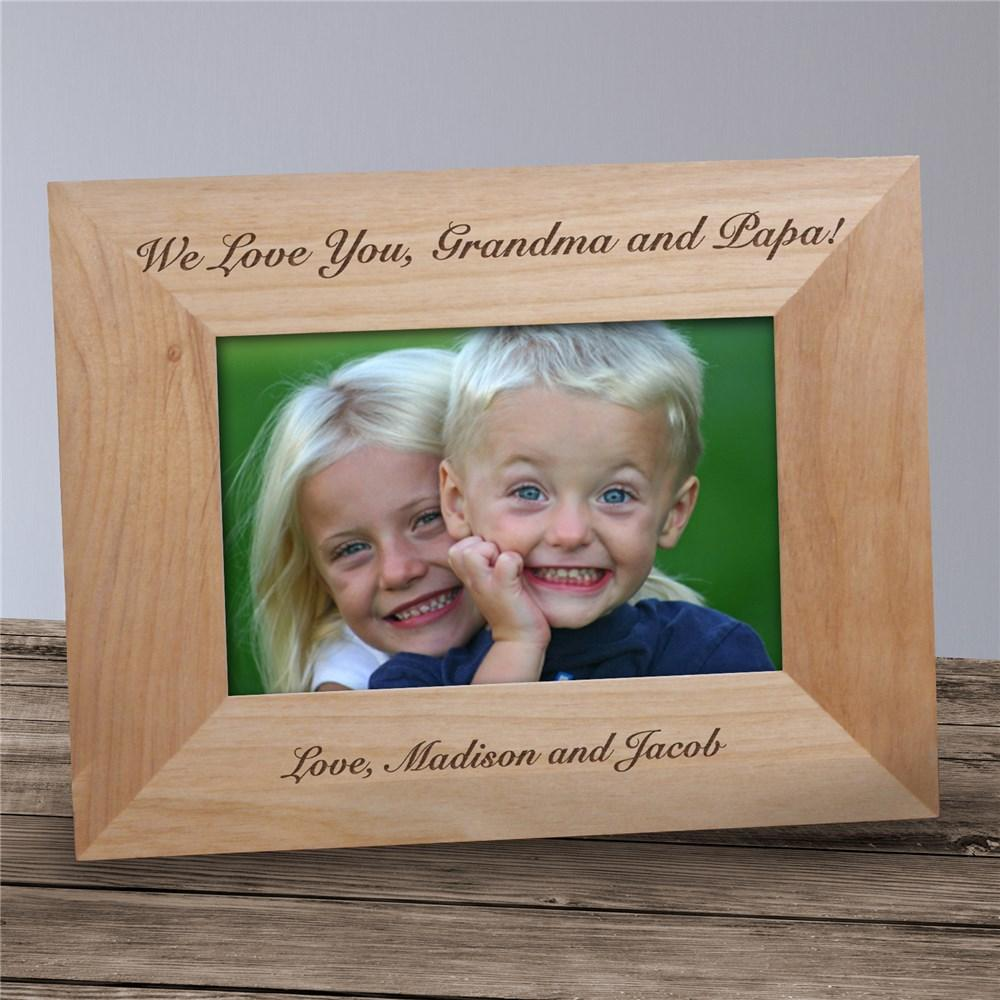 Personalized Any Message Wood Picture Frame