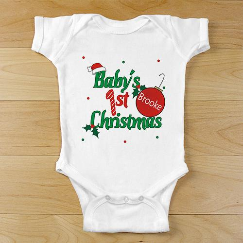Personalized Ornament First Christmas Baby