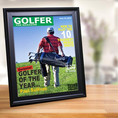 Personalized Golf Magazine Cover