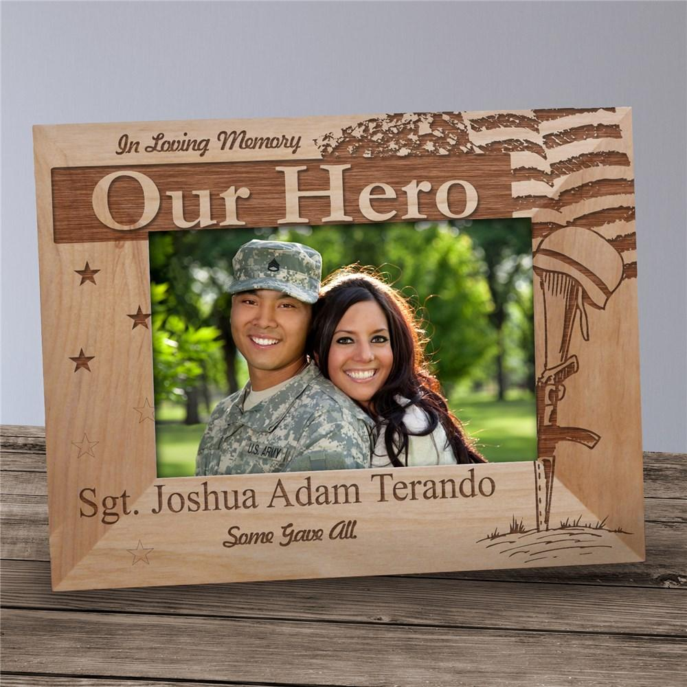 Personalized Engraved Military Memorial Picture Frame