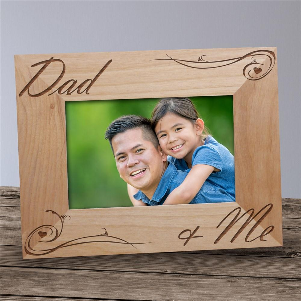 Personalized Engraved Dad And Me Picture Frame