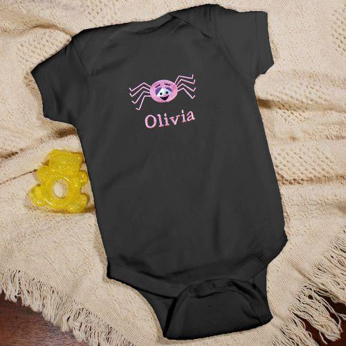 Personalized Cute Spider Baby Creeper