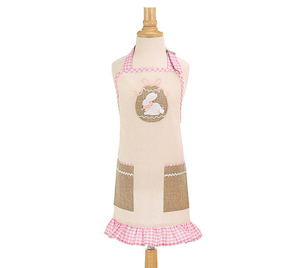 Kids Easter Bunny Pink Apron