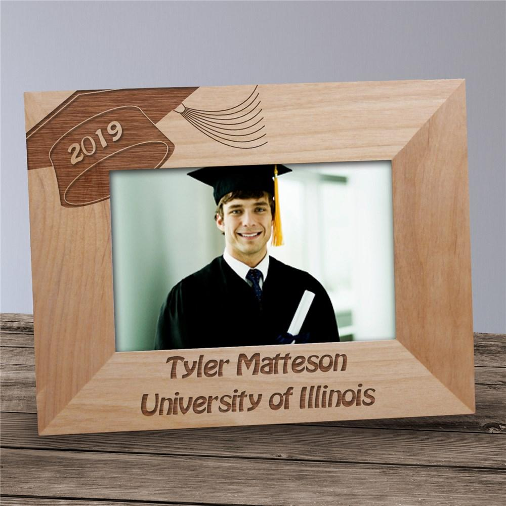 Personalized Graduation Engraved Wood Photo Frame