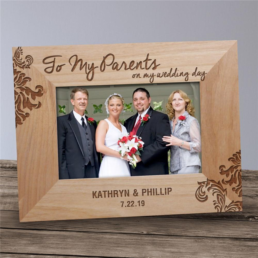 Personalized Engraved Parents Wedding Frame