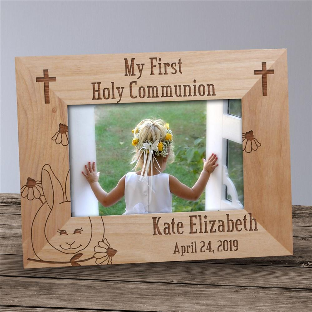 Personalized Communion Wood Frame