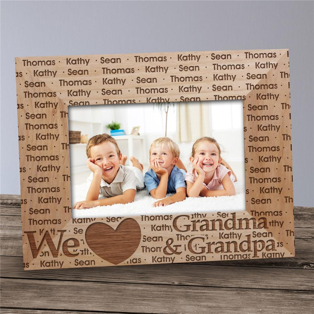 Personalized We Love Grandma & Grandpa Picture Frame