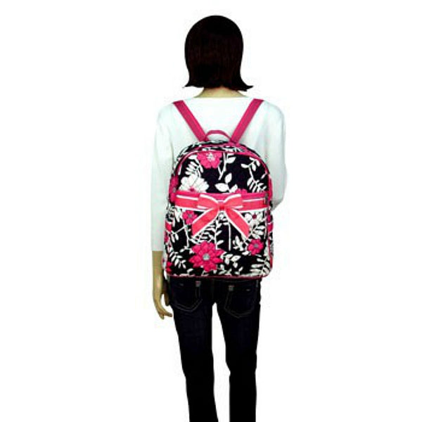 "Personalized 15"" Quilted Backpack Bookbag Kids School Tote - Gifts Happen Here - 98"