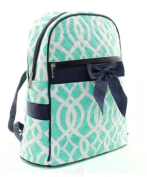 "Personalized 15"" Quilted Backpack Bookbag Kids School Tote - Gifts Happen Here - 100"