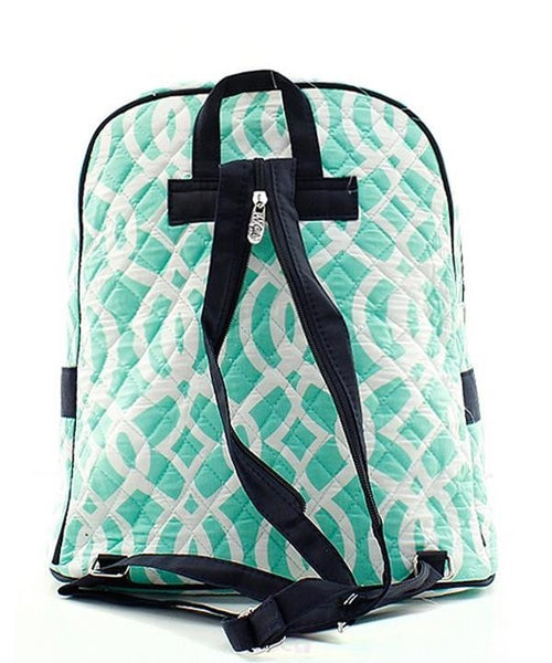 "Personalized 15"" Quilted Backpack Bookbag Kids School Tote - Gifts Happen Here - 102"