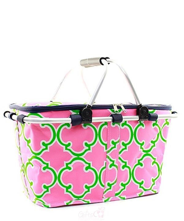 Personalized Large Picnic Basket Insulated Cooler Tote Bag - Gifts Happen Here - 89