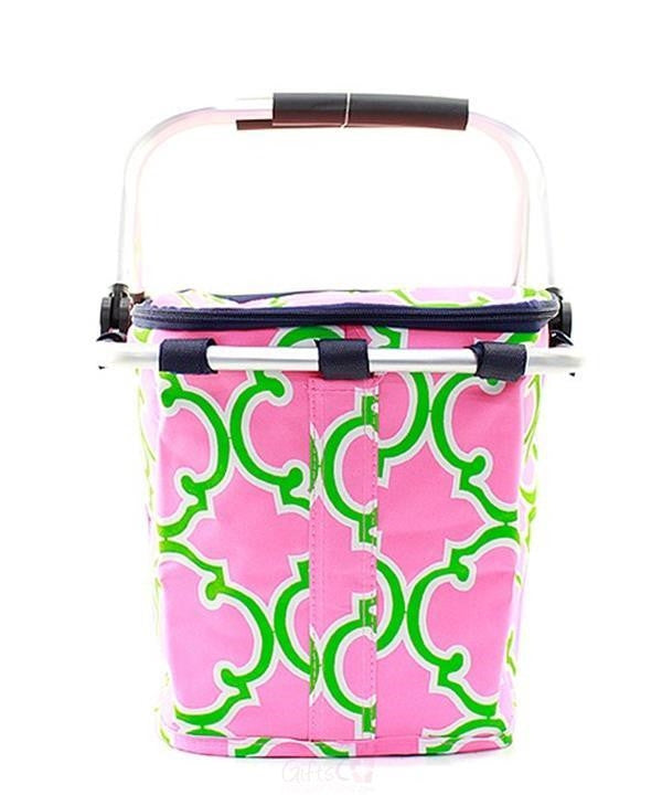 Personalized Large Picnic Basket Insulated Cooler Tote Bag - Gifts Happen Here - 90