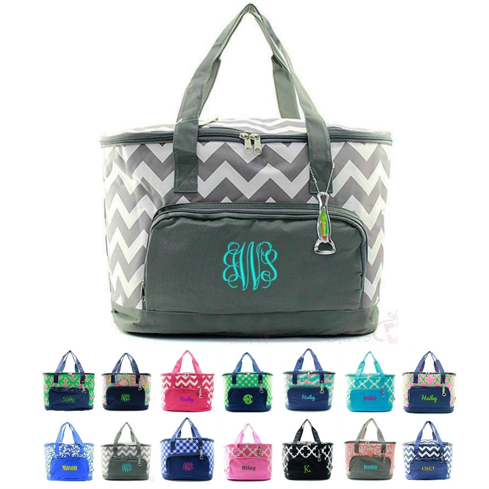 "Personalized 24"" Insulated Cooler Beach Tote Bag - Gifts Happen Here - 1"