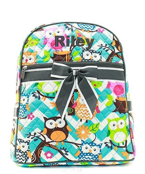 "Personalized 15"" Quilted Backpack Bookbag Kids School Tote - Gifts Happen Here - 61"