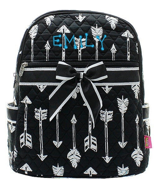 "Personalized 15"" Quilted Backpack Bookbag Kids School Tote - Gifts Happen Here - 4"