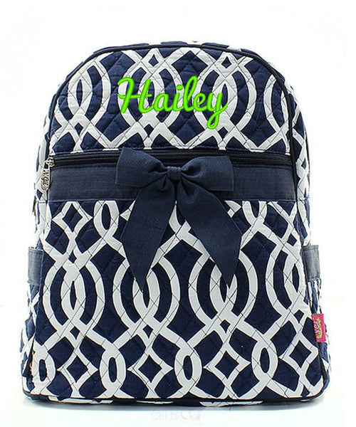 "Personalized 15"" Quilted Backpack Bookbag Kids School Tote - Gifts Happen Here - 51"