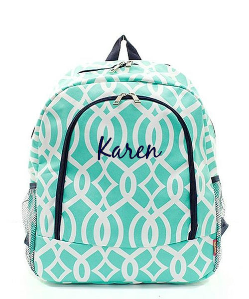 "Personalized 17"" Full Size Backpack Bookbag School Tote Bag - Gifts Happen Here - 51"