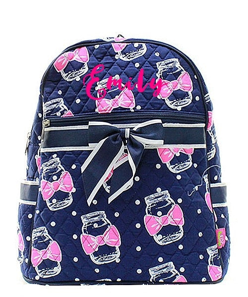 "Personalized 15"" Quilted Backpack Bookbag Kids School Tote - Gifts Happen Here - 52"