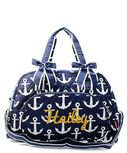 "Personalized 18"" Quilted Duffle Tote Bag Kids Girls - Gifts Happen Here - 3"