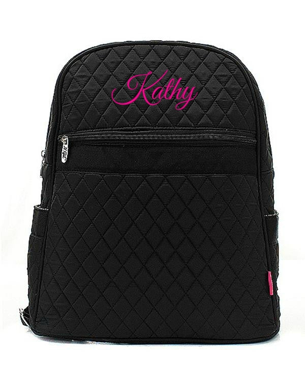 "Personalized 15"" Quilted Backpack Bookbag Kids School Tote - Gifts Happen Here - 87"