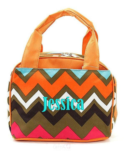 "Personalized Lunch Bag Cooler 9"" Insulated Tote - Gifts Happen Here - 58"
