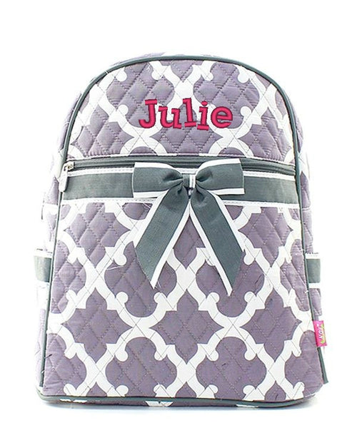 "Personalized 15"" Quilted Backpack Bookbag Kids School Tote - Gifts Happen Here - 68"