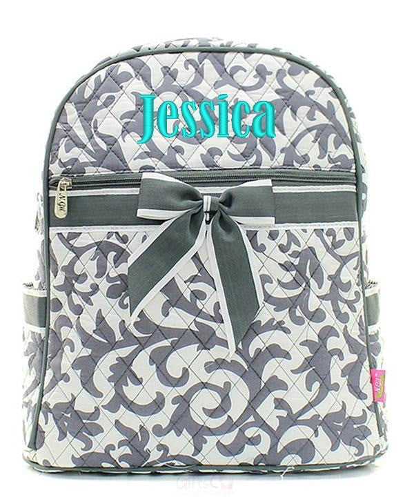 "Personalized 15"" Quilted Backpack Bookbag Kids School Tote - Gifts Happen Here - 36"
