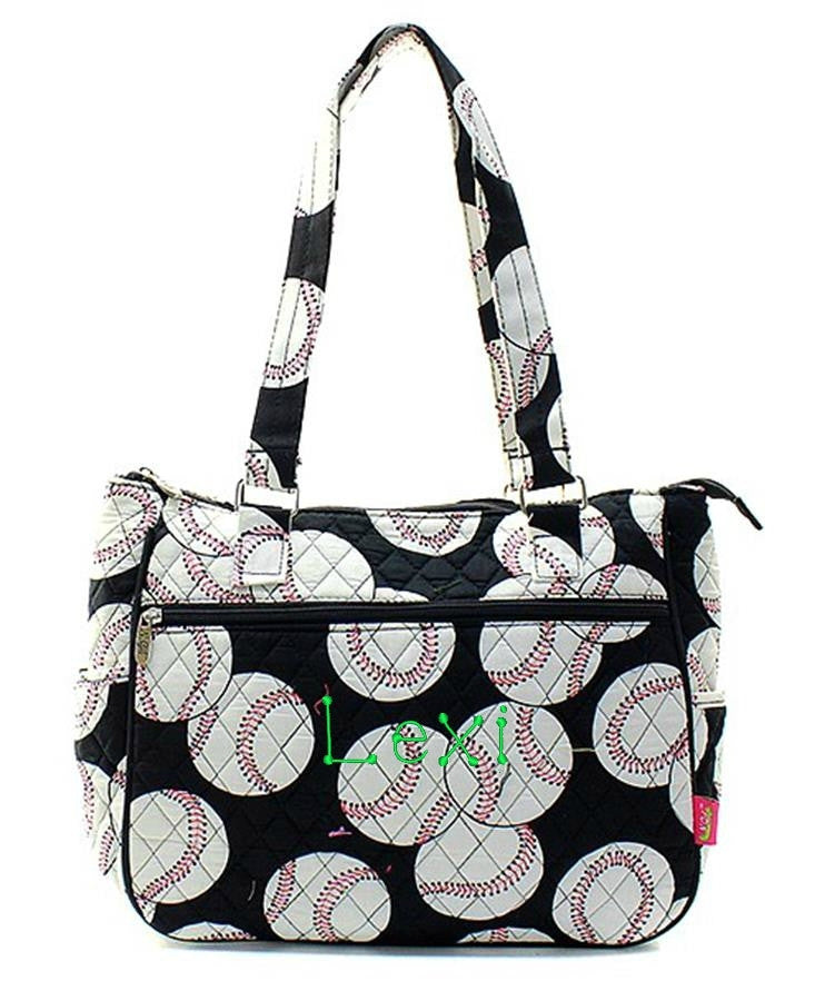 "Personalized 14"" Quilted Handbag Purse Tote Bag - Gifts Happen Here - 2"