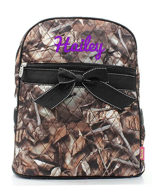 "Personalized 15"" Quilted Backpack Bookbag Kids School Tote - Gifts Happen Here - 55"