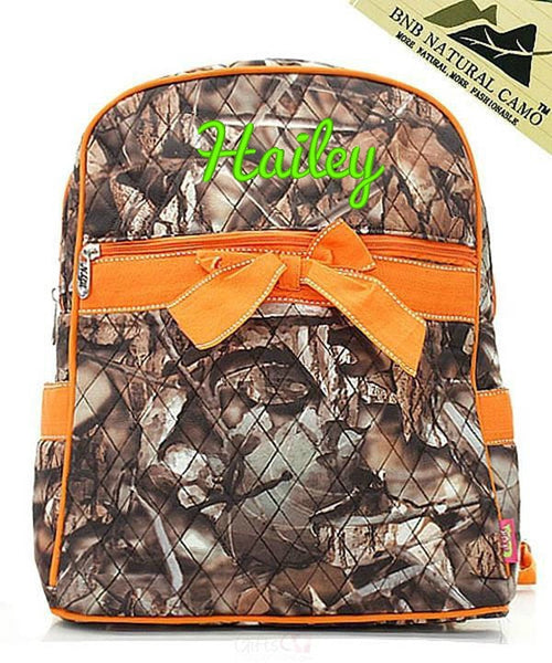 "Personalized 15"" Quilted Backpack Bookbag Kids School Tote - Gifts Happen Here - 58"
