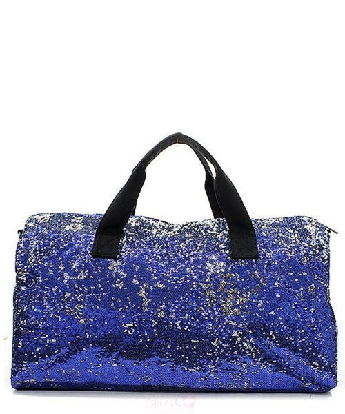 "Sequin Navy Blue 21"" Duffle Bag - Gifts Happen Here"