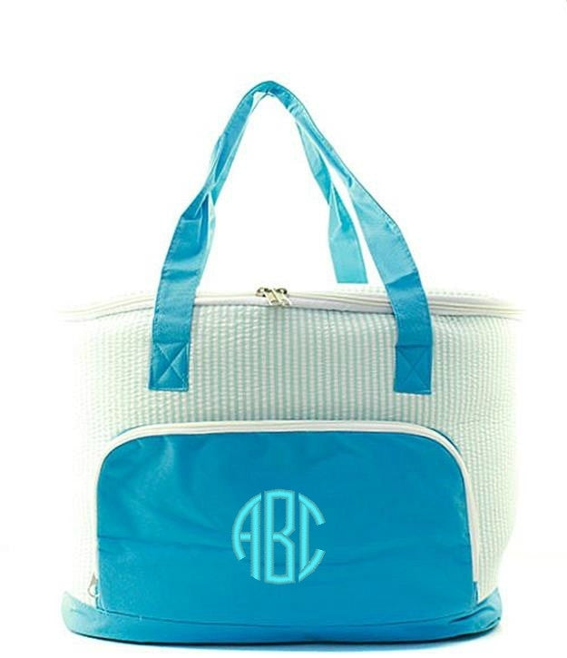 "Personalized 24"" Insulated Cooler Beach Tote Bag - Gifts Happen Here - 36"