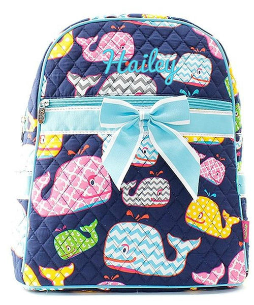 "Personalized 15"" Quilted Backpack Bookbag Kids School Tote - Gifts Happen Here - 94"