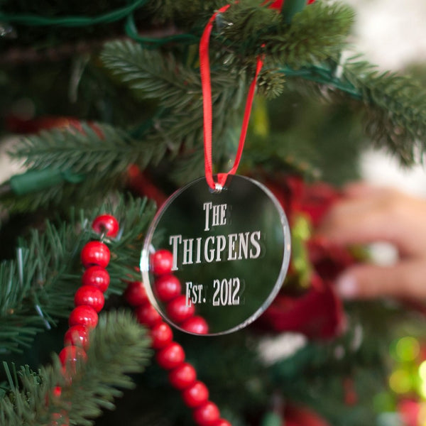 Personalized Mirrored Acrylic Christmas Ornaments