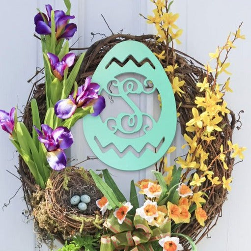 Pesonalized Easter Egg Wood Monogram
