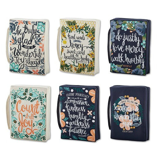 Floral Sayings Bible Covers