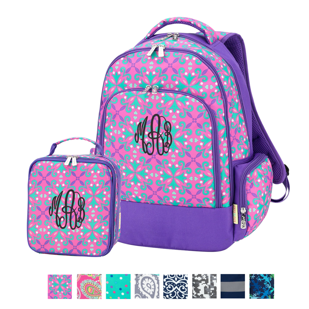 Studious Kids Gift Set  - Personalized Matching Backpack & Lunchbag Set