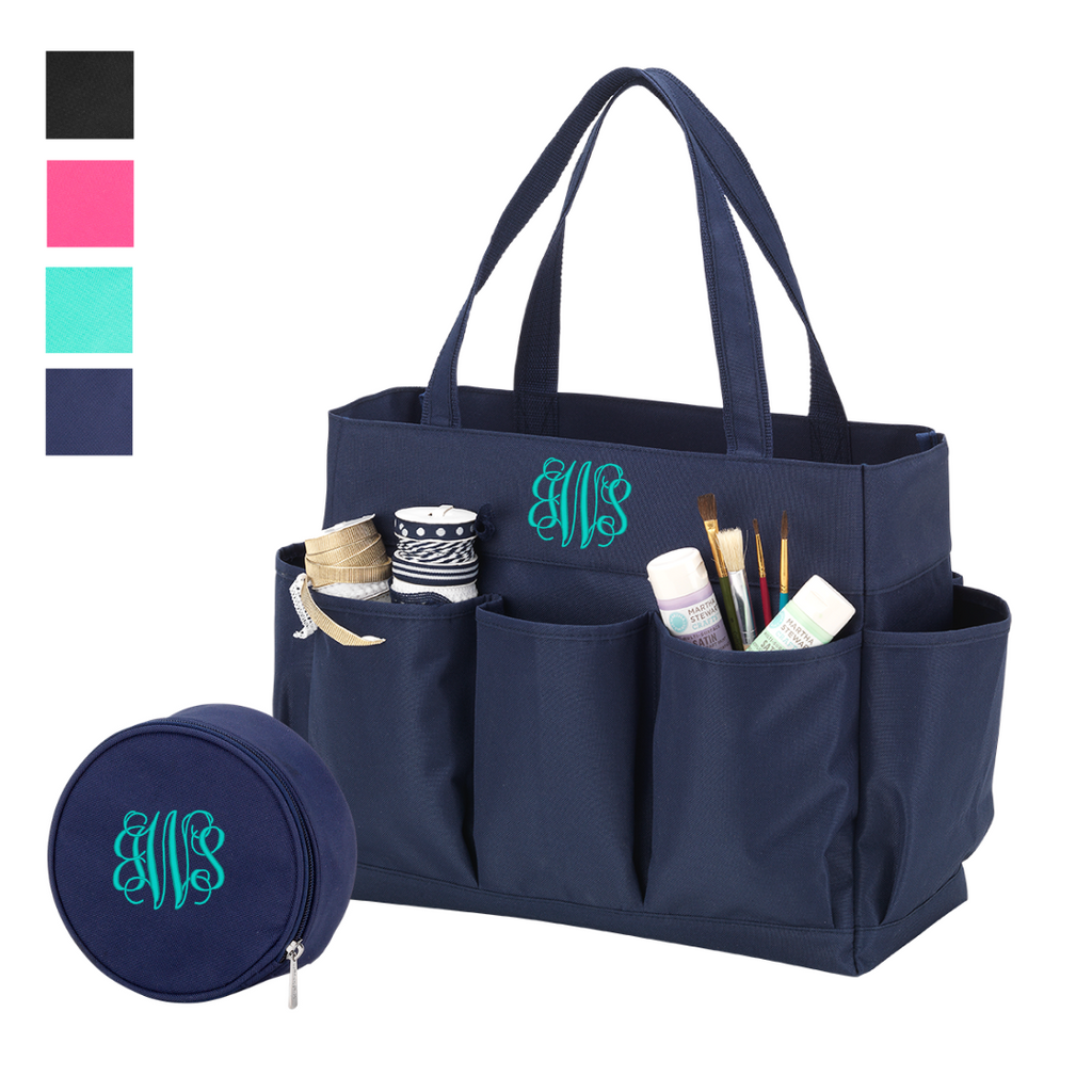 Ultimate Organizing Gift Set - Monogrammed Matching Pocket Tote & Pouch Set