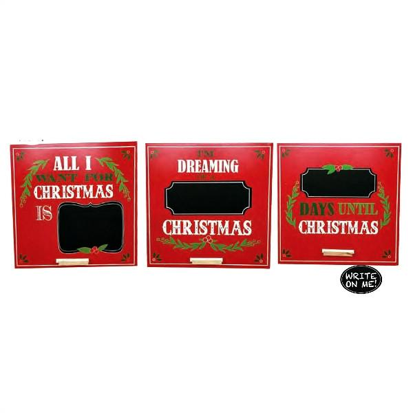 "12"" Chalkboard Countdown Christmas Sayings Sign - Gifts Happen Here"