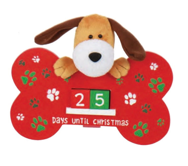 Countdown to Christmas Dog Bone Sign Advent Calendar - Gifts Happen Here