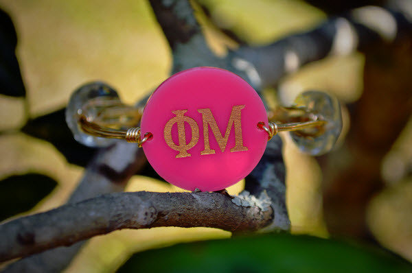 Personalized Greek Bangle Monogram Bracelet Engraved - Gifts Happen Here - 1
