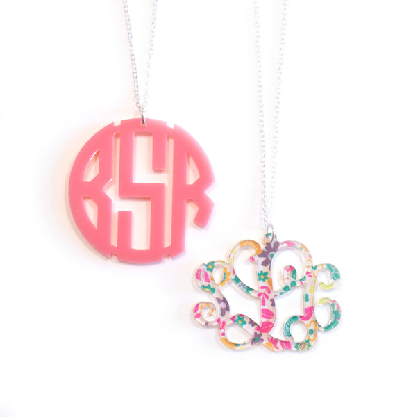 Personalized Pendant Monogram Necklace - Gifts Happen Here - 1