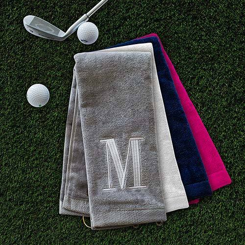 Personalized Embroidered Initial Golf Towel